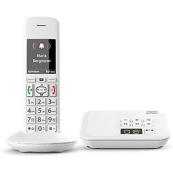 FengChun E370A Schnurloses Telefon (fr Senioren mit Anrufbeantworter, mit groen Tasten und