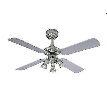 """Ceiling fan Princess Euro Pewter 105cm / 42"""" with light"""