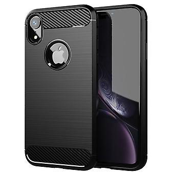 Tpu carbon vezel hoesje voor iphone xs max zwart mfkj-788