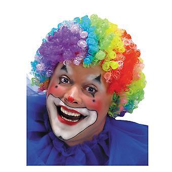 Clown Circus Ziua de naștere Partidul Rainbow Afro Bărbați Costum Peruca