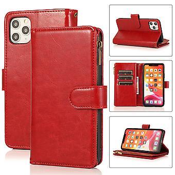 Flip folio leather case for iphone 7plus/8plus red pns-3702