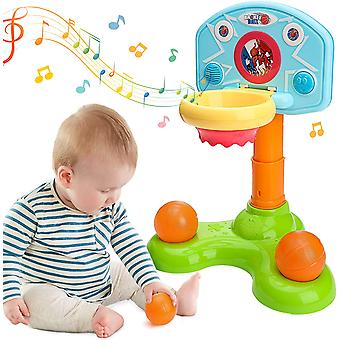 Toddler Basketball Hoop Infant Sports Toy Electronic With Light And Music Adjustable H