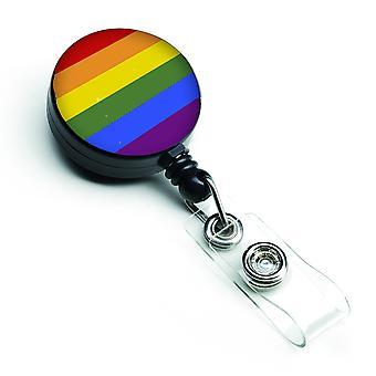 Carolines Treasures  CK7992BR Gay Pride Retractable Badge Reel