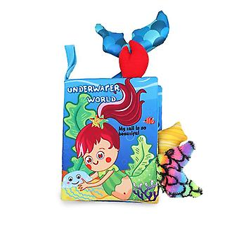 Baby Cloth Book Multifonctionnel 3D Tail Book Cartoon Animal