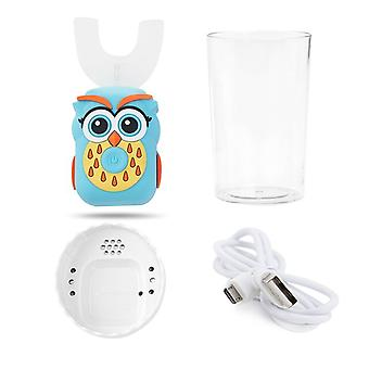 Electric Toothbrush Kids 3 Modes Rechargeable U-shaped 360-degree Sonic Intelligent Cartoon Children's Toothbrush Gift
