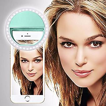 ALCATEL ONETOUCH POP 3 (5) 4G (Light Green) Clip on Selfie Ring Light with 36 LED For Smart Phone Camera Round Shape, By I-Tronixs
