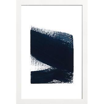 JUNIQE Print -  Minimal 3 - Abstrakt & Geometrisch Poster in Blau & Weiß