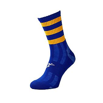 Precision Pro Hooped GAA Mid Socks Royal/Amber - Iso-Britannia Koko 7-11