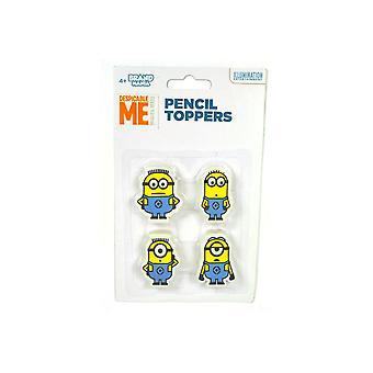 Minions Fyra Pack Pencil Topper Set