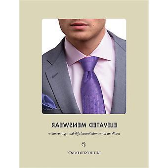 Märke - Knäppt ner mäns klassiska passform spridning krage solid icke-järn klänning skjorta