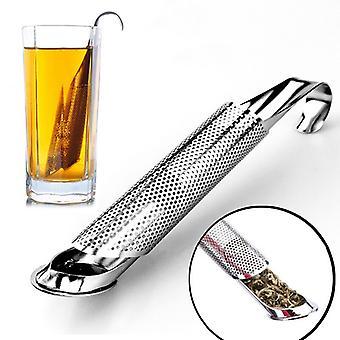 Tea Strainer Stainless Steel Infuser Pipe Design Touch Feel Holder Tool Tea Spoon Infuser Filter