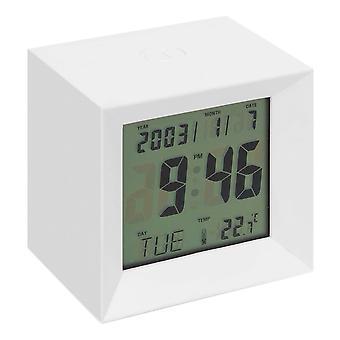 ויליאם WIDDOP LCD קוביית שעון מעורר רב תכליתי - לבן