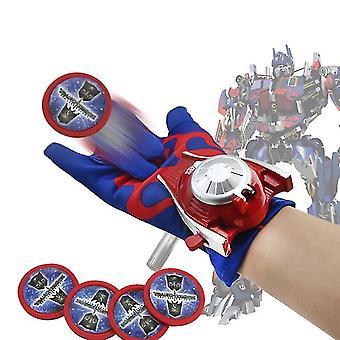 Disney Plastic Cosplay Optimus Prime Glove Launcher Funny Toy