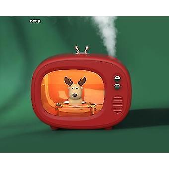 Tv Cute Pet Humidifier Portable Mini Mute Cartoon Moisturizing Spray(Red)