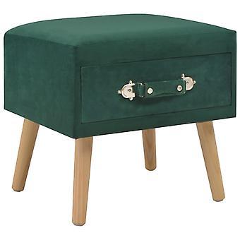 vidaXL Bedside Table Green 40 x 35 x 40 Velvet