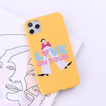 Spoof creative singer téléphone cas tpu peint couverture protectrice
