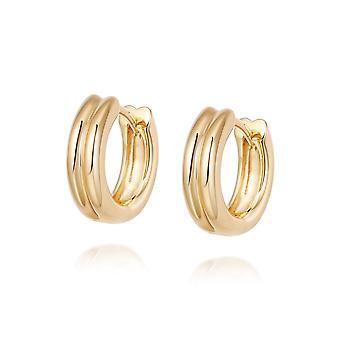 Daisy Meryl Huggie Hoop 18ct Gold Plate Earrings HUG17_GP