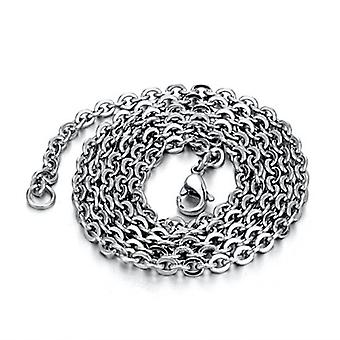 Women Necklace Cross Chain O Shape Stainless Steel Clavicle Chain For Exhibition