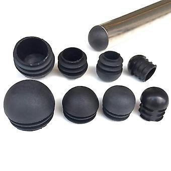 円形のプラスチック黒のブランクエンドキャップ