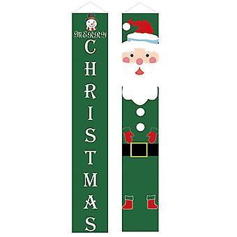 (23) Feliz Natal Festa santa pendurado Banner Garden Banners Decoração porta de natal