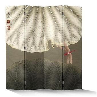 Hieno aasialainen olohuone kiinalainen itämainen huoneenjakaja taittuva yksityisyysnäyttö 4 paneelia W160xH180cm Vintage Punainen Sudenkorento