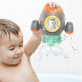 Brinquedos de banho, brinquedos de banho para foguete espacial infantil, brinquedo de banho de bebê girando água spray para bebê