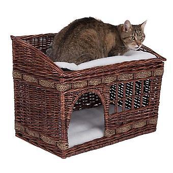 (Braun) Wicker Katzenhöhle Bett