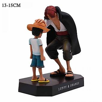 Cartoon Childhood Straw Hat Luffy Scene Pvc Action Figures, Collectible Models, Toys
