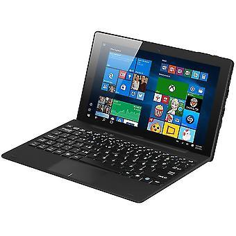 10.1 بوصة رباعية النواة 64gb HD الكمبيوتر اللوحي لنظام التشغيل Windows 10 لالروبوت 5.1 Hi10