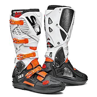 Sidi Crossfire 3 SRS Oranje Flo Zwart Witte Laarzen CE