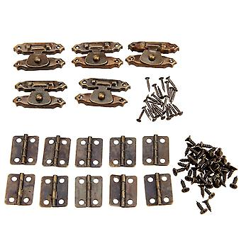 Locks latches antique style iron decorative hinges with vintage lock latch hasps screws and sm112608