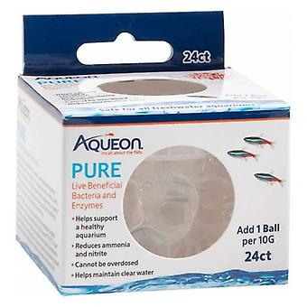 Aqueon Pure LIve Beneficial Bacteria and Enzymes for Aquariums - 24 count