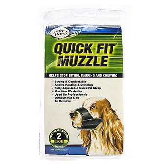 """Four Paws Quick Fit Muzzle - Size 2 - Fits 5.5"""" Snout"""