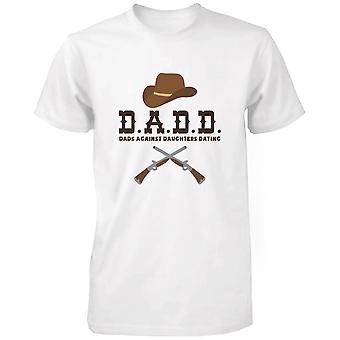 بيان الرسم مضحكة للرجال قميصا-الآباء ضد بناتهم يؤرخ أبيض