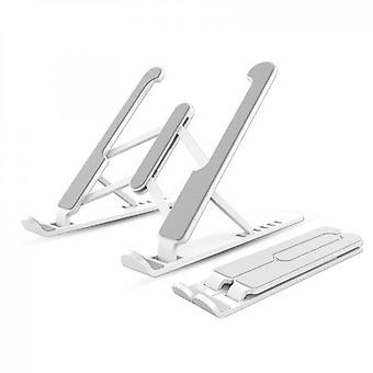 Laptop Computer Can Be Raised And Lowered Folding Stand - White