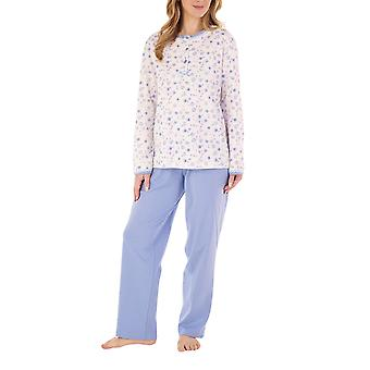 slenderella pj88128 kvinners floral bomull pyjamas sett