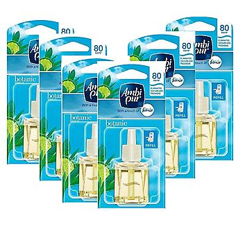 6 X 20Ml Ambi Pur Febreze Plug In Refill Air Freshener - Botanic Breeze (Spring)