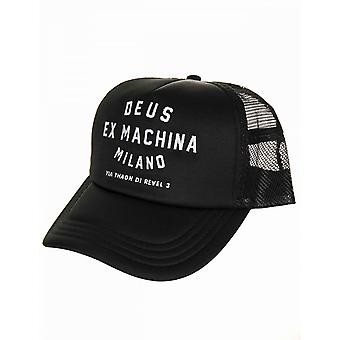 Deus Ex Machina Milan Address Trucker Hat - Black