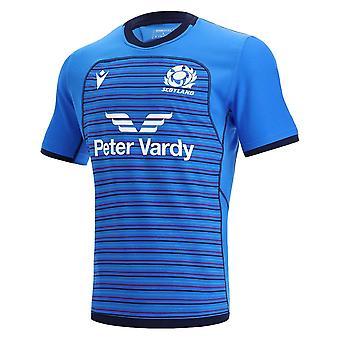 2021-2022 اسكتلندا الركبي تدريب جيرسي (الأزرق)