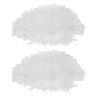 試験管は2000 ppm-4595の帽子0.5ml白いパックが付いているミニチュアプラスチック遠心分離管