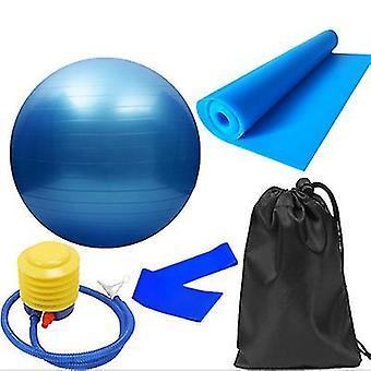 5pcs/set training fitness yoga bal elastische band (blauw)