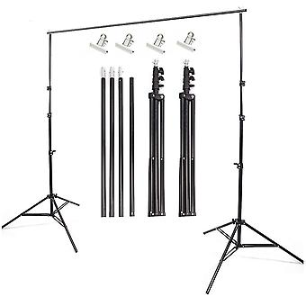 Heavy-Duty Photo Studio Backdrop Screen Stand KIT Support System Set 2,8 x 3m