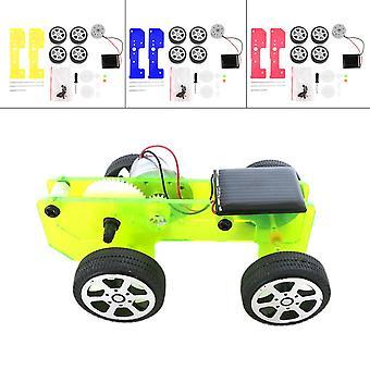 Mini hauska aurinkovoimalla toimiva lelu diy autosarja lapset koulutus gadget harrastus
