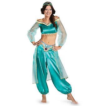 Voksne piger Prinsesse Jasmine Suit Cosplay Kostume Halloween-1