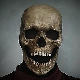 フルヘッドスカルマスクヘルメットと可動顎の頭蓋骨マスクコールデューティマスクのおもちゃハロウィーン悪ラテックスゴム