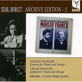 Mahler/Franck - Idil Biret painos, Vol. 5: Quartet Piano & jouset [CD] Yhdysvallat tuontia varten