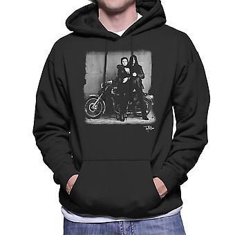 Ian Astbury And Renee Beach Motorbike Men's Hooded Sweatshirt