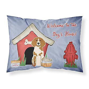 Dog House Collection Brittany Spaniel Fabric Standard Pillowcase