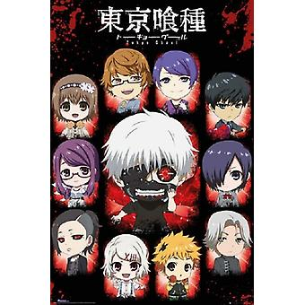 Tokyo Ghoul Chibi Characters Poster Poster Print