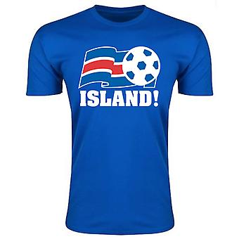 Island fotball Federation T-Shirt (blå)
